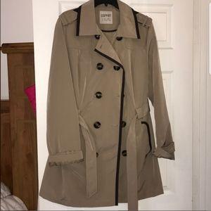 NWOT Esprit trench coat color tan